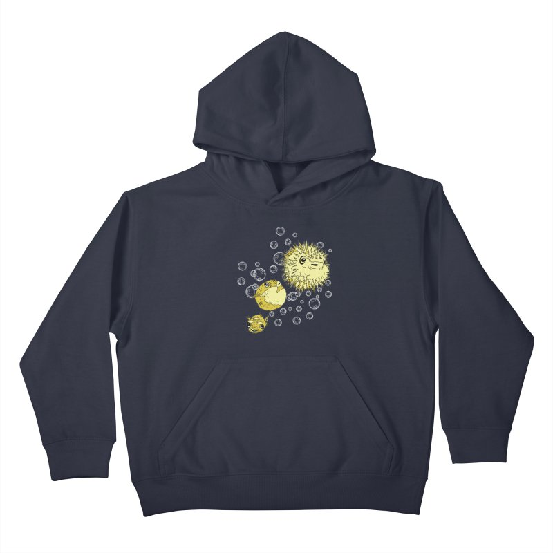 Puffer Attack Kids Pullover Hoody by