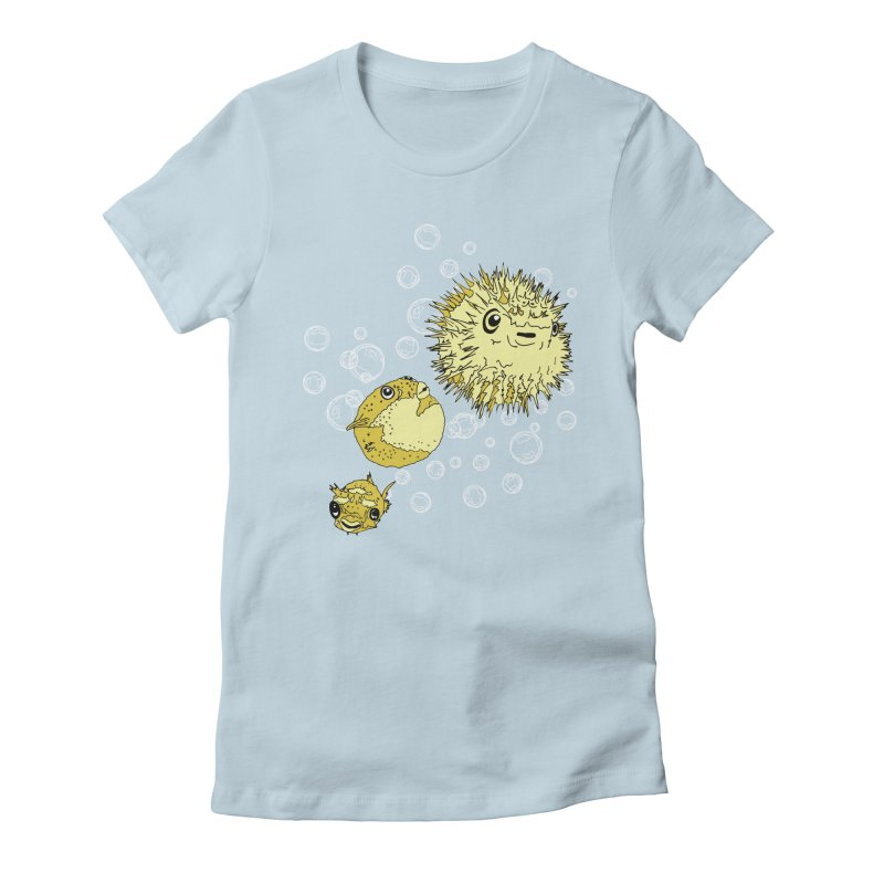 Puffer Attack Women's Fitted T-Shirt by