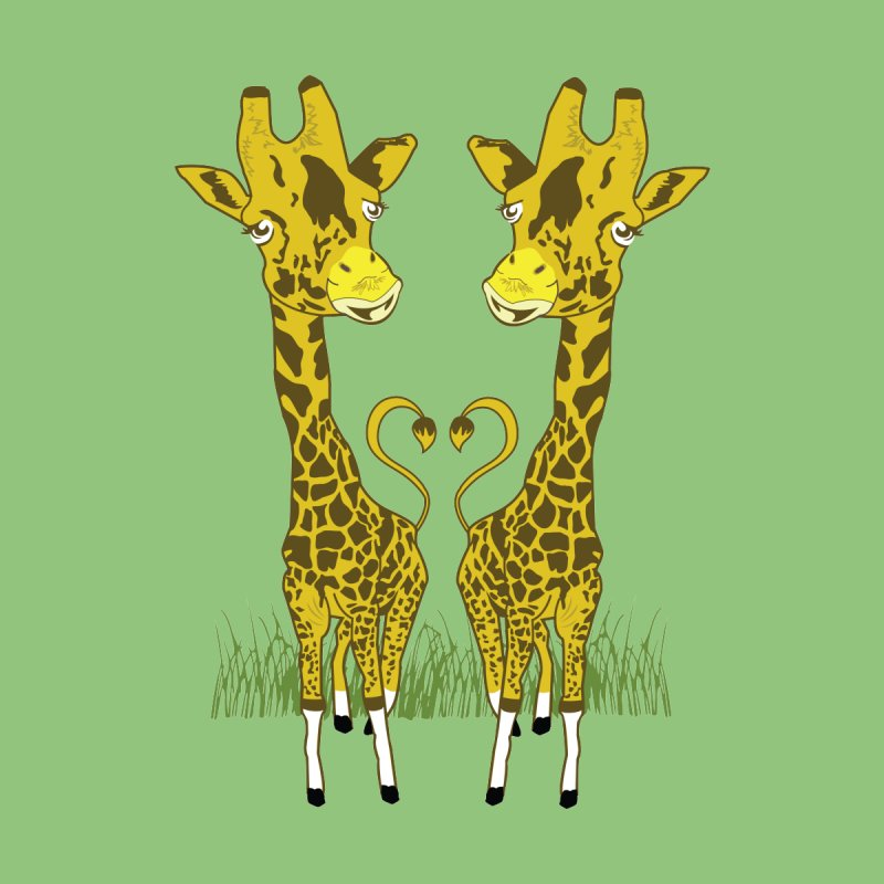 Giraffe Love Women's T-Shirt by