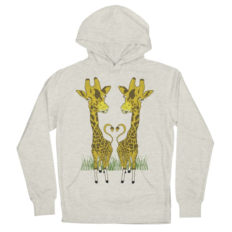 Giraffe Love Women's French Terry Pullover Hoody by