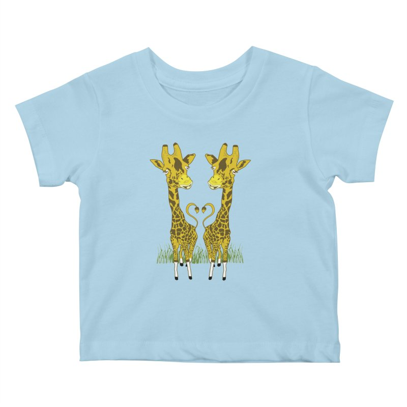 Giraffe Love Kids Baby T-Shirt by