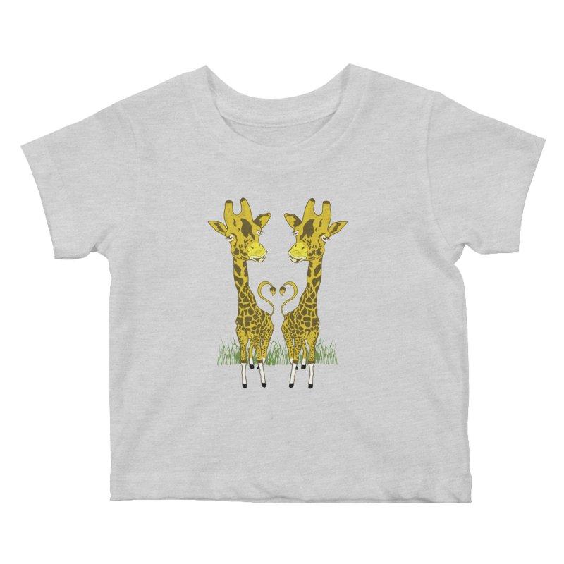 Giraffe Love Kids Baby T-Shirt by