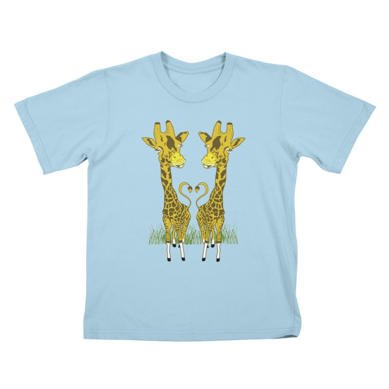 Giraffe Love Kids T-Shirt by