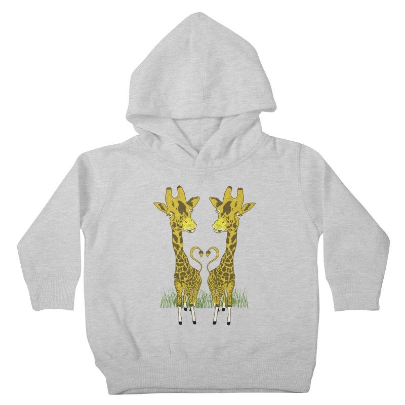 Giraffe Love Kids Toddler Pullover Hoody by