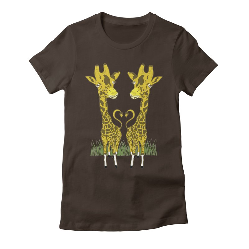 Giraffe Love Women's Fitted T-Shirt by