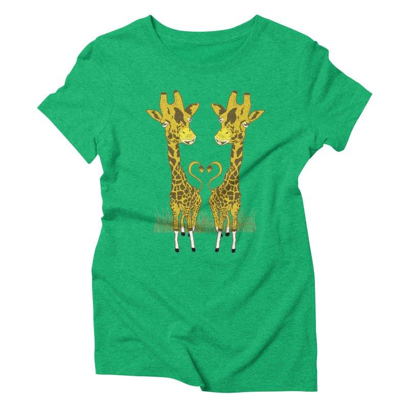 Giraffe Love Women's Triblend T-Shirt by