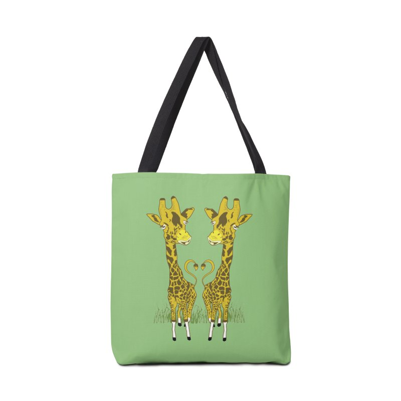 Giraffe Love Accessories Tote Bag Bag by