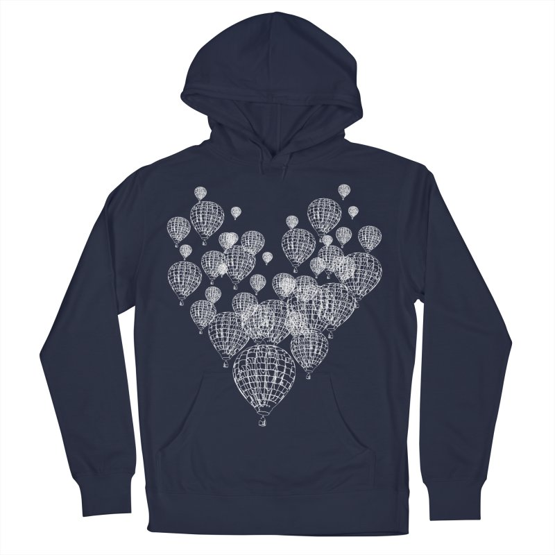 Heart Balloons Women's French Terry Pullover Hoody by