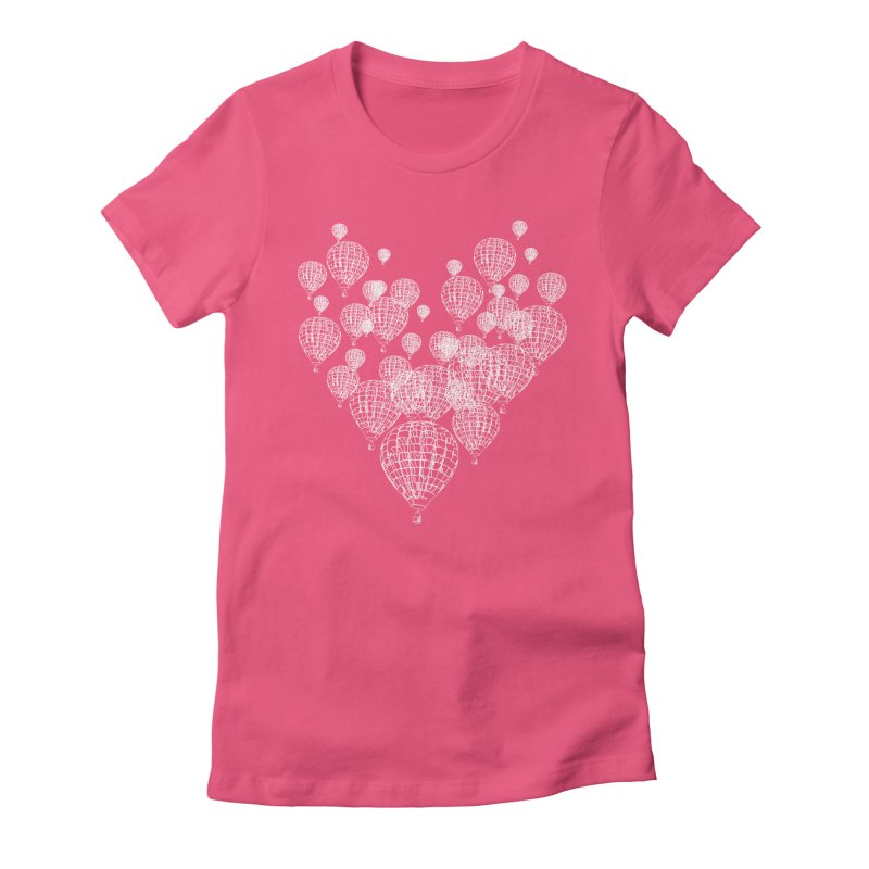 Heart Balloons Women's Fitted T-Shirt by