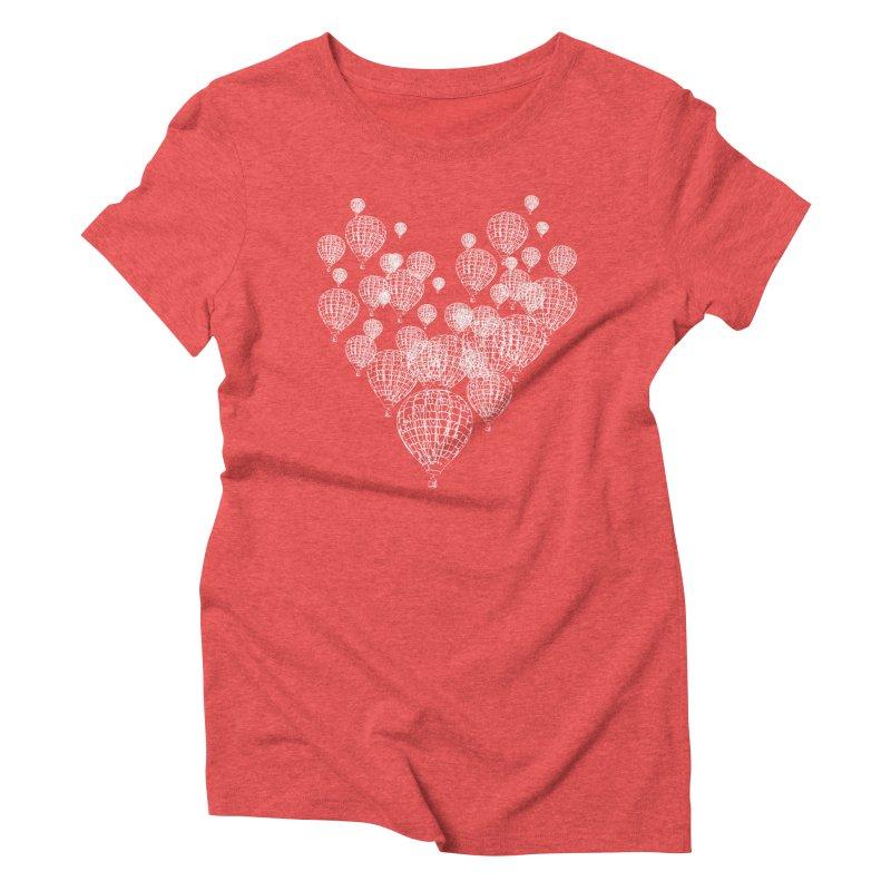 Heart Balloons Women's Triblend T-Shirt by