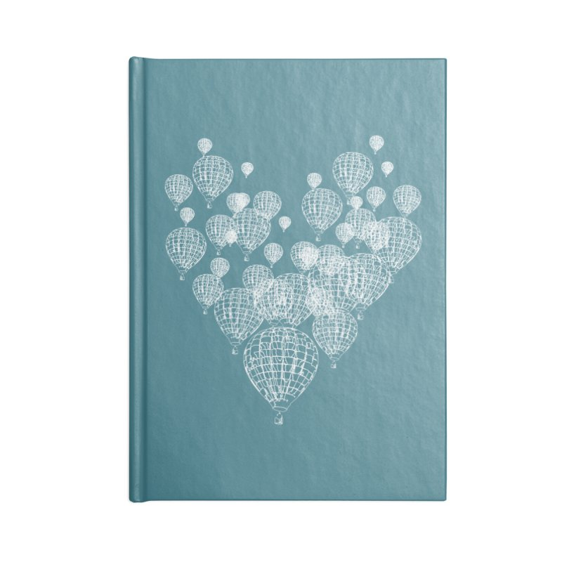 Heart Balloons Accessories Notebook by