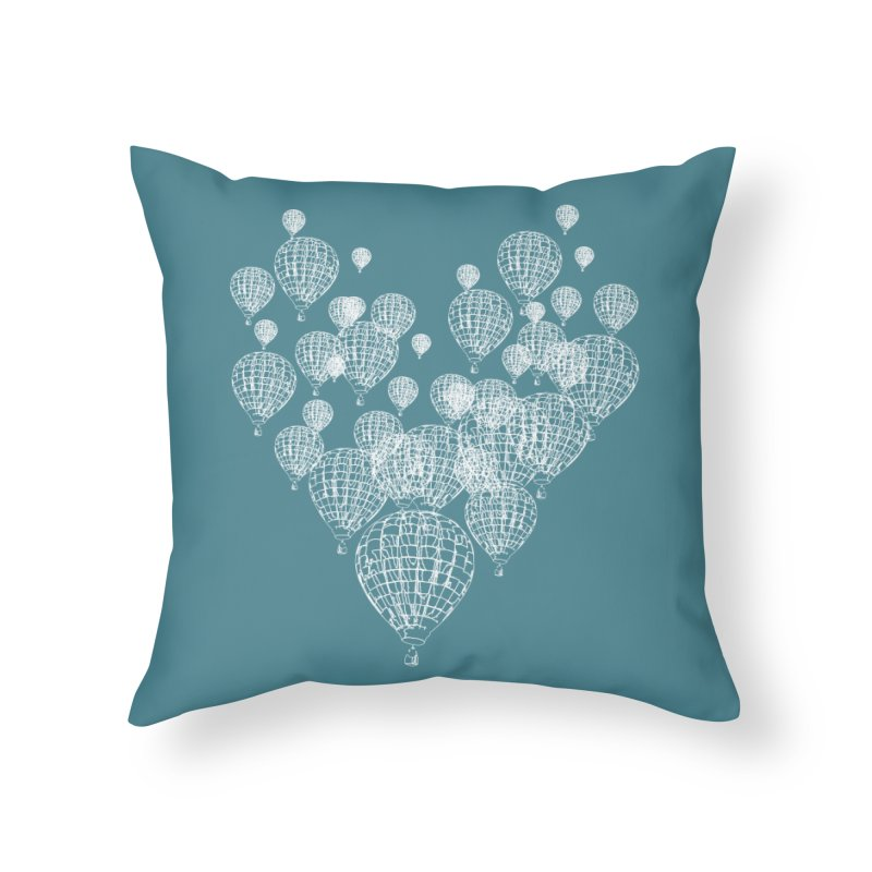 Heart Balloons Home Throw Pillow by