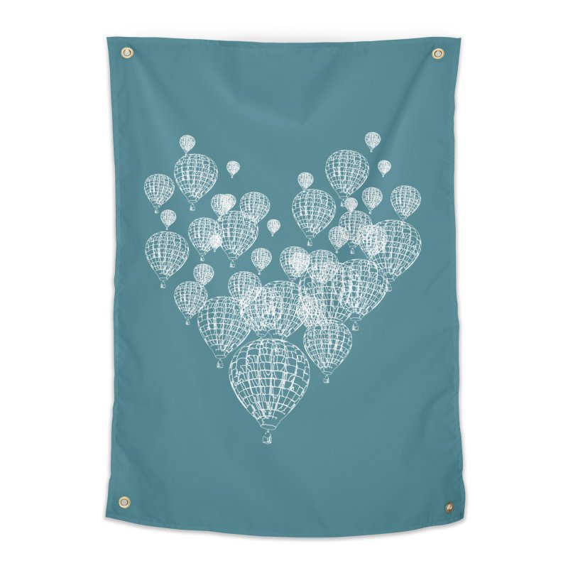 Heart Balloons Home Tapestry by