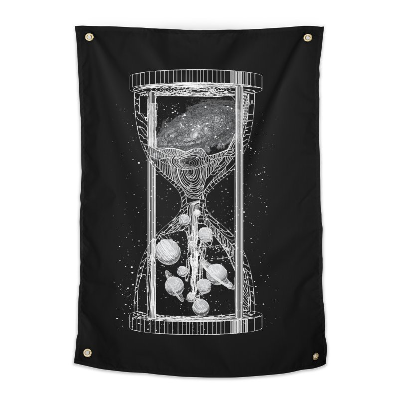 Astro Hourglass Home Tapestry by