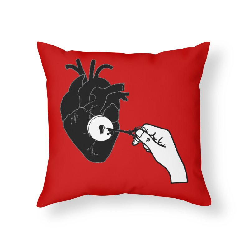 Unlock My Heart Home Throw Pillow by