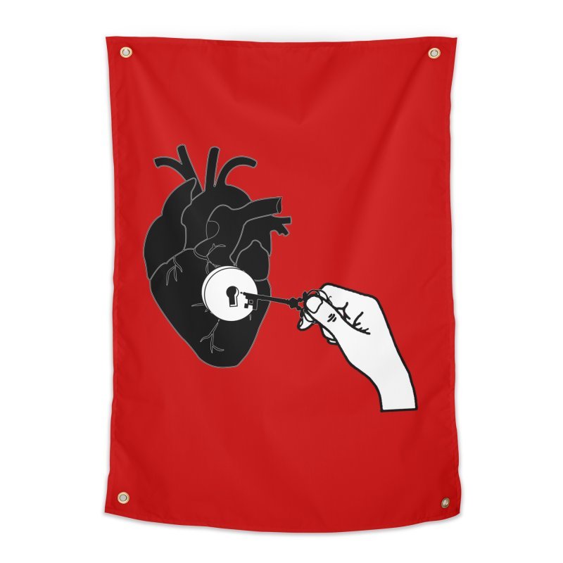 Unlock My Heart Home Tapestry by