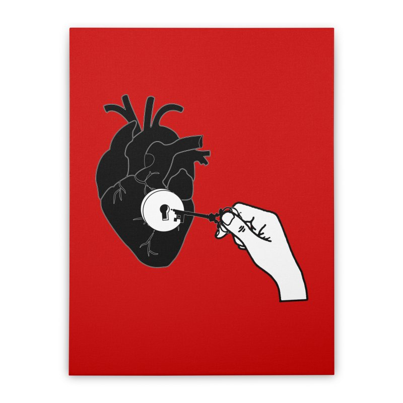 Unlock My Heart Home Stretched Canvas by