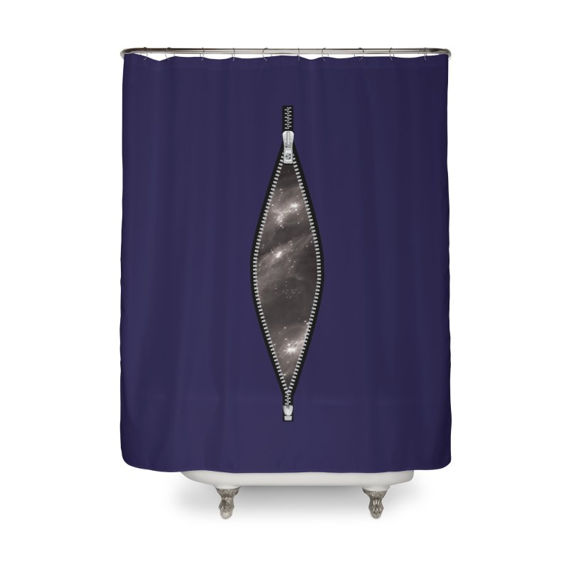 Unzip the Universe Home Shower Curtain by