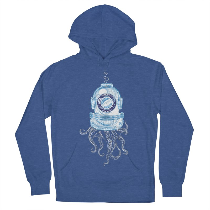 Deep Sea Octopus Men's French Terry Pullover Hoody by