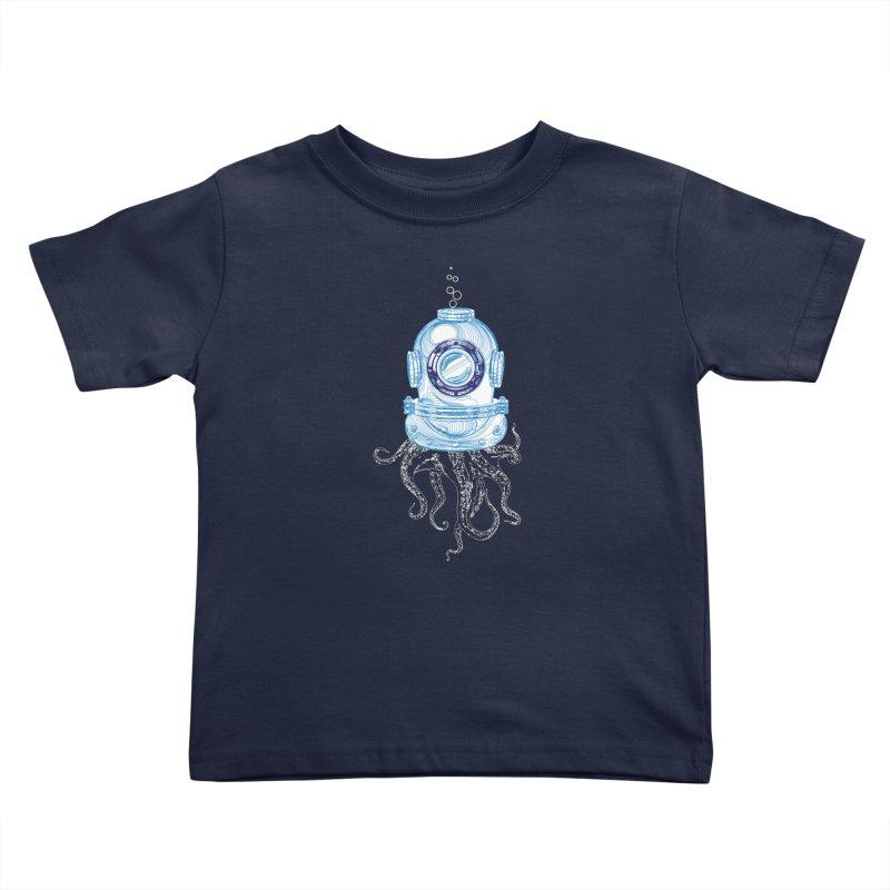 Deep Sea Octopus Kids Toddler T-Shirt by