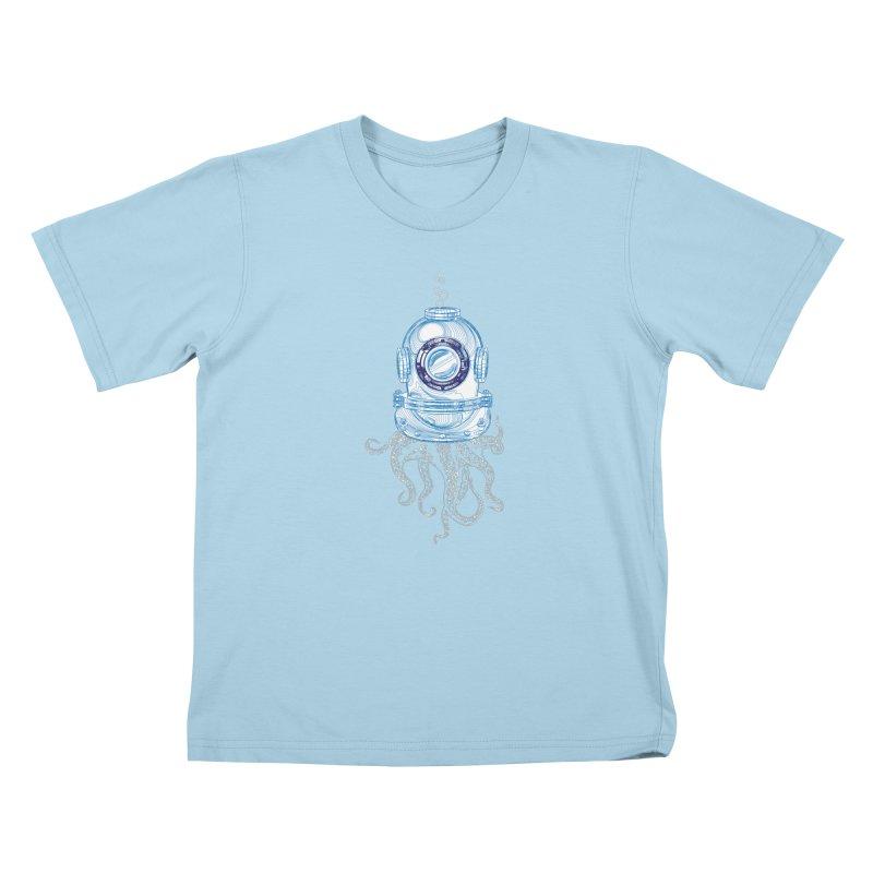 Deep Sea Octopus Kids T-Shirt by