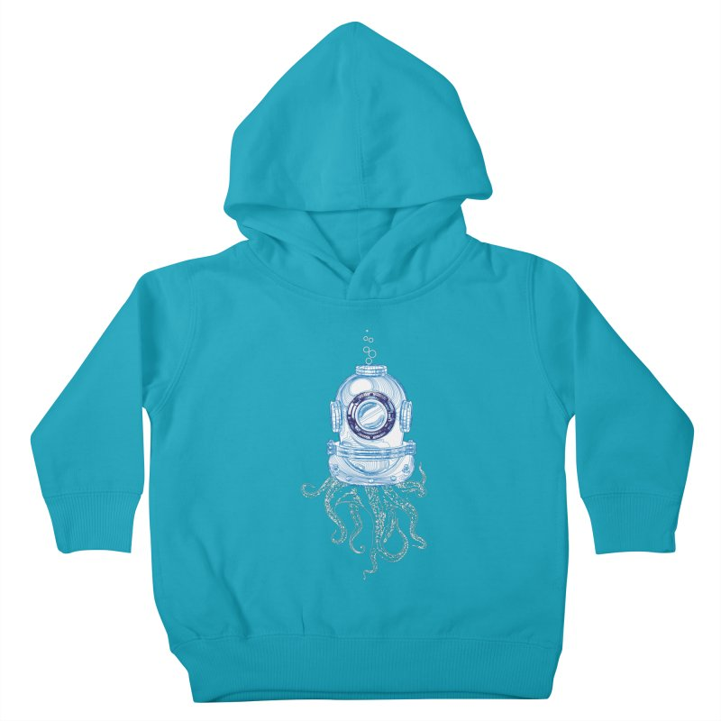 Deep Sea Octopus Kids Toddler Pullover Hoody by