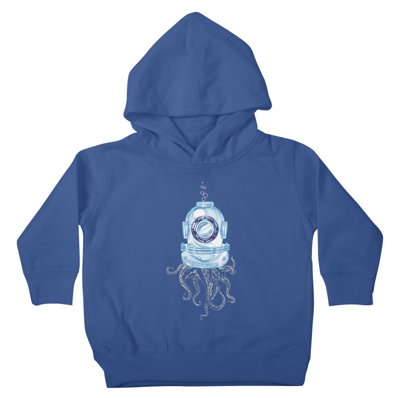 Deep Sea Octopus Kids Toddler Pullover Hoody by