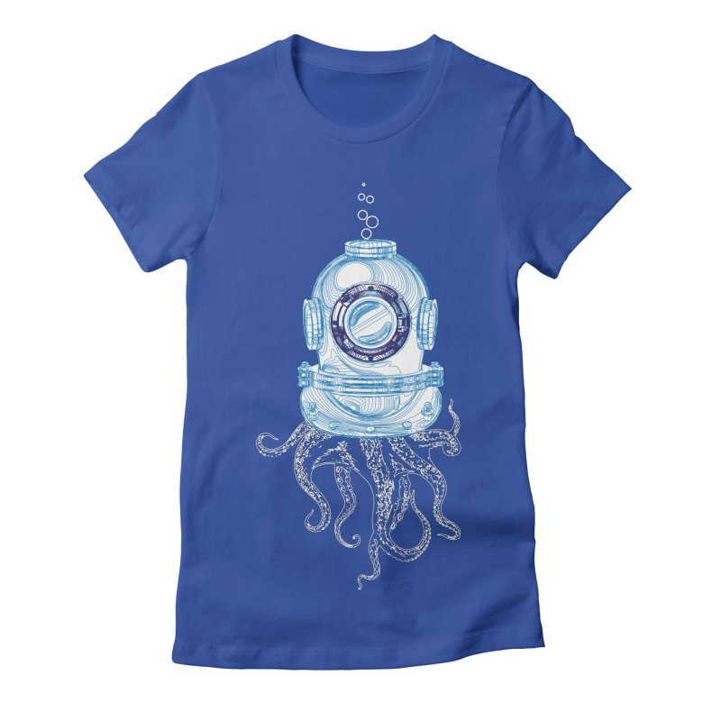 Deep Sea Octopus Women's Fitted T-Shirt by