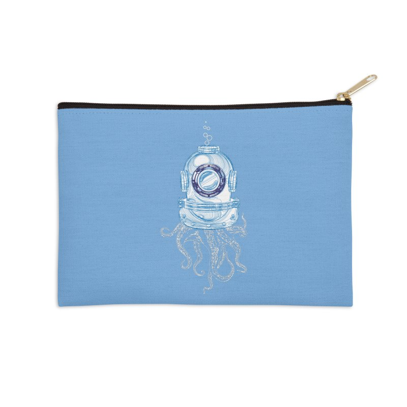 Deep Sea Octopus Accessories Zip Pouch by
