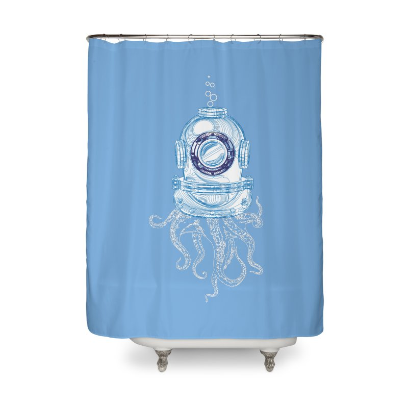 Deep Sea Octopus Home Shower Curtain by