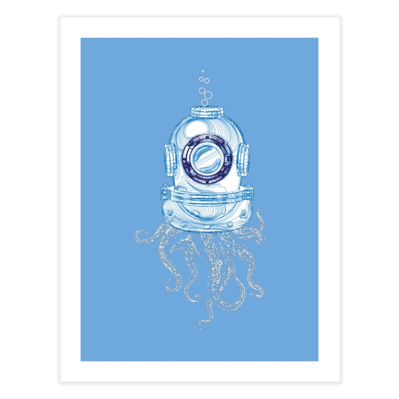 Deep Sea Octopus Home Fine Art Print by