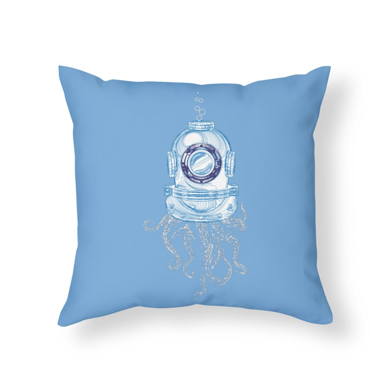 Deep Sea Octopus Home Throw Pillow by