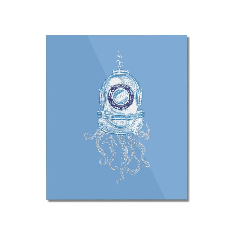 Deep Sea Octopus Home Mounted Acrylic Print by