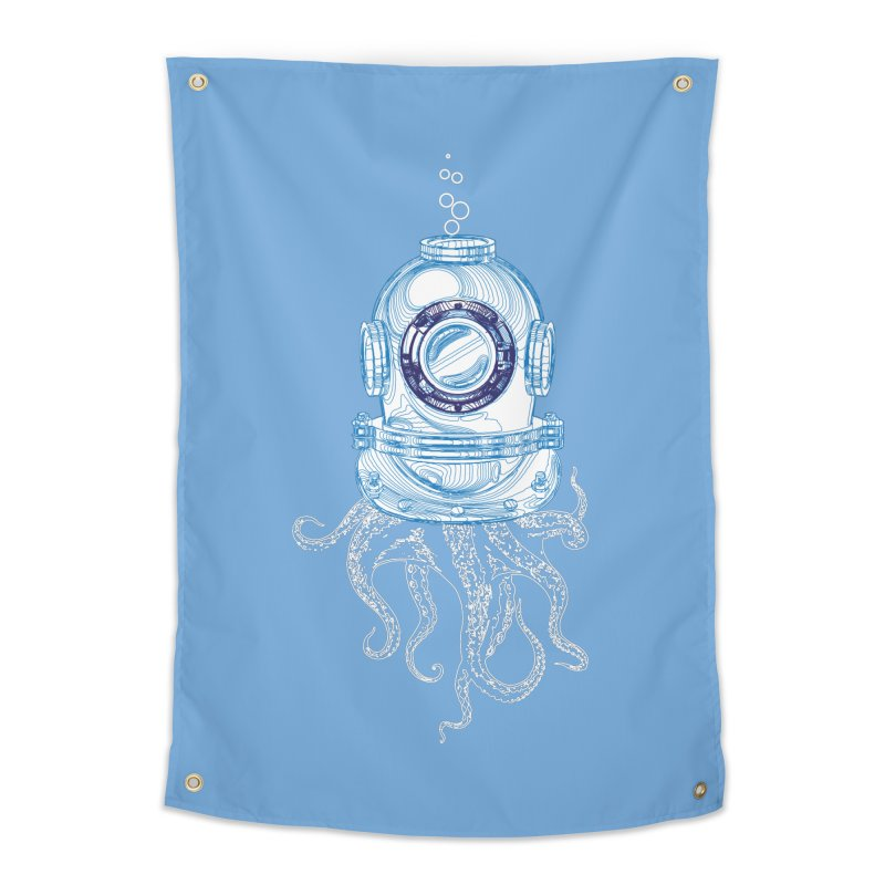 Deep Sea Octopus Home Tapestry by