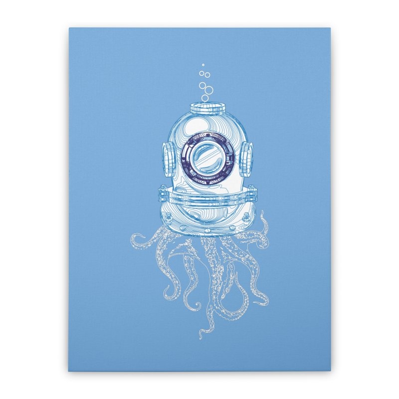 Deep Sea Octopus Home Stretched Canvas by