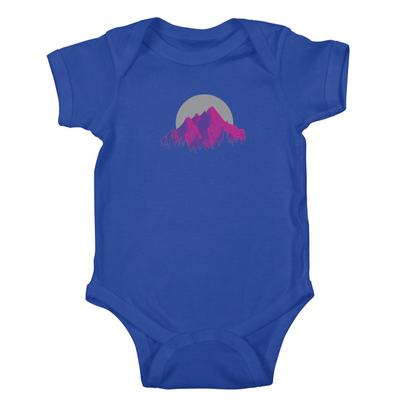 Purple Mountains Kids Baby Bodysuit by