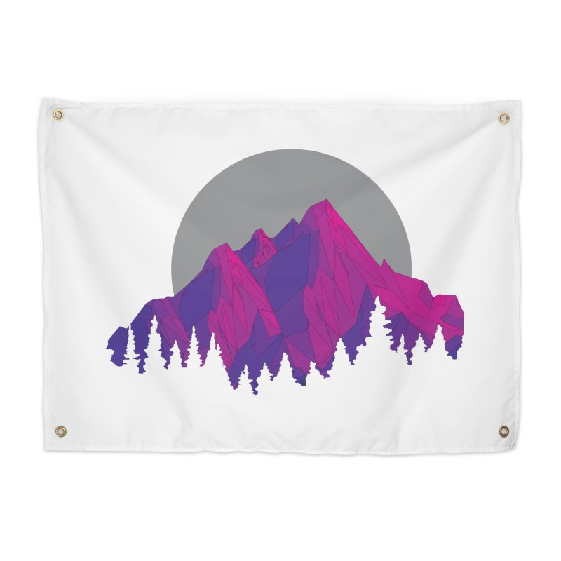 Purple Mountains Home Tapestry by