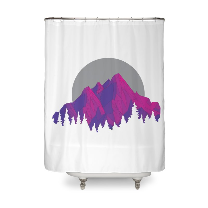 Purple Mountains Home Shower Curtain by