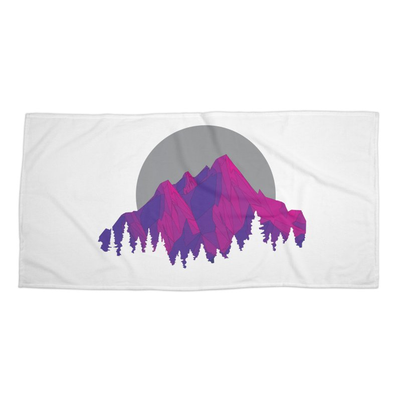 Purple Mountains Accessories Beach Towel by