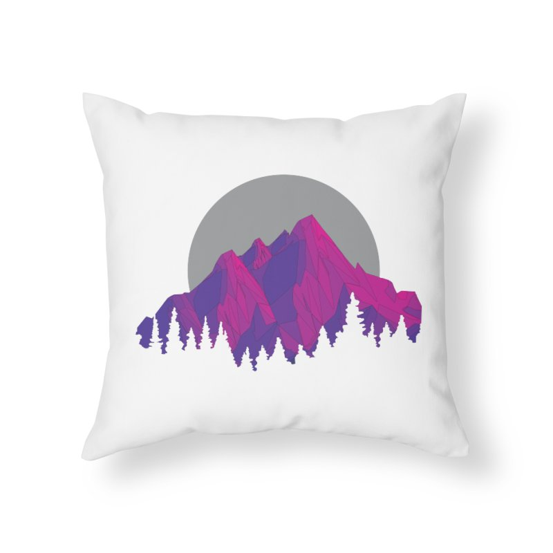 Purple Mountains Home Throw Pillow by