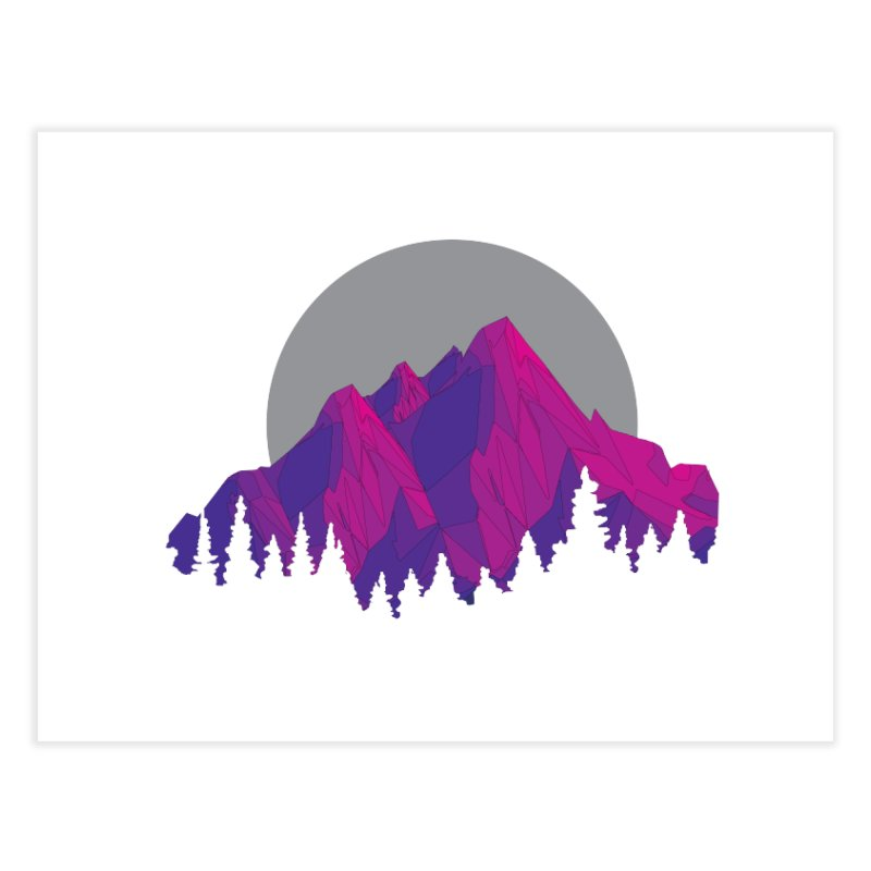 Purple Mountains Home Fine Art Print by