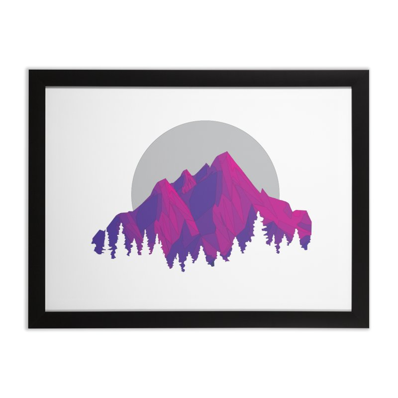 Purple Mountains Home Framed Fine Art Print by