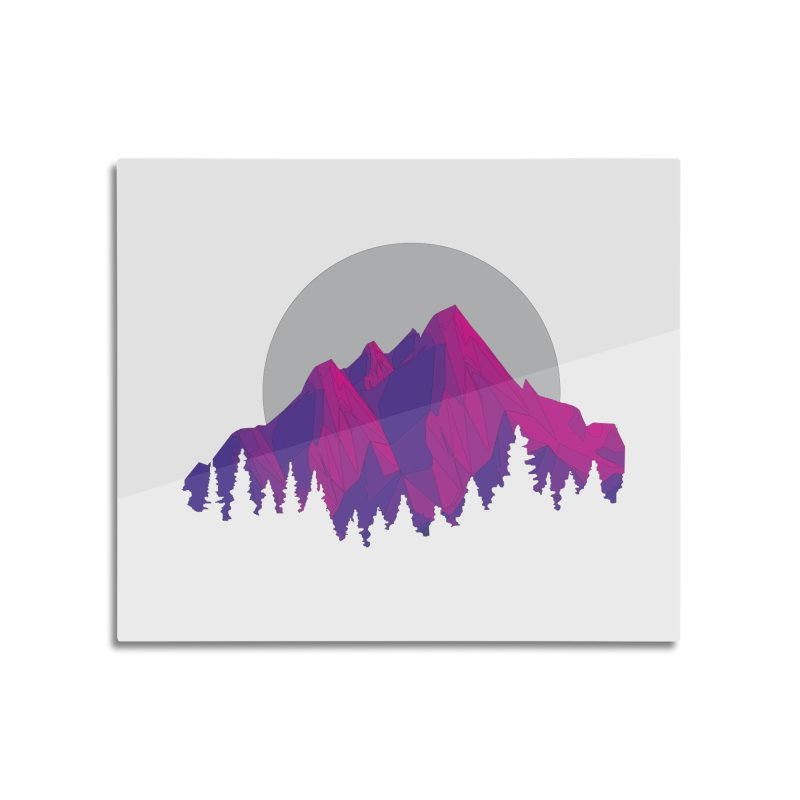 Purple Mountains Home Mounted Aluminum Print by