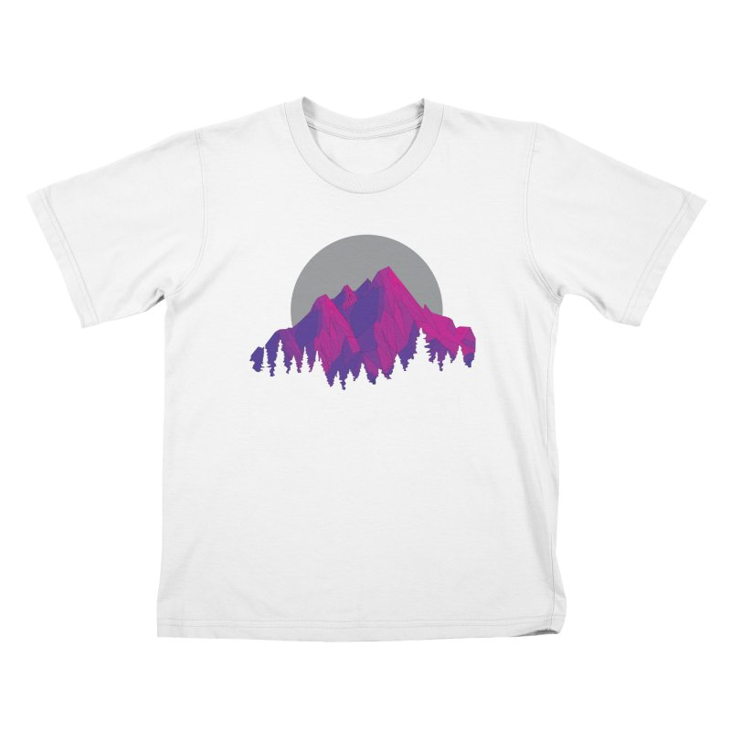 Purple Mountains Kids T-Shirt by