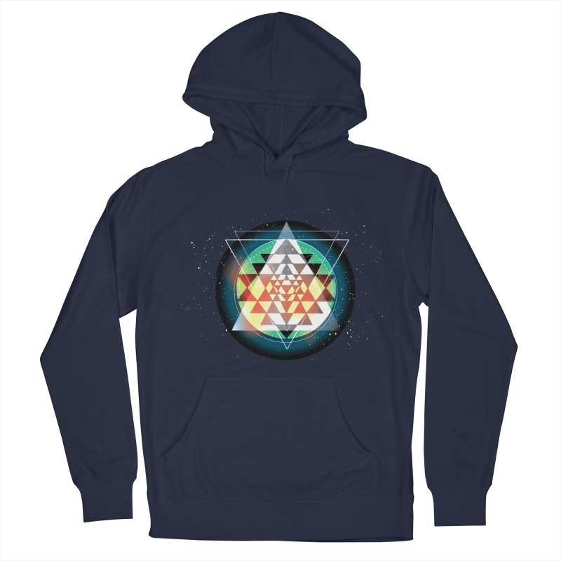 Sri Yantra Men's French Terry Pullover Hoody by