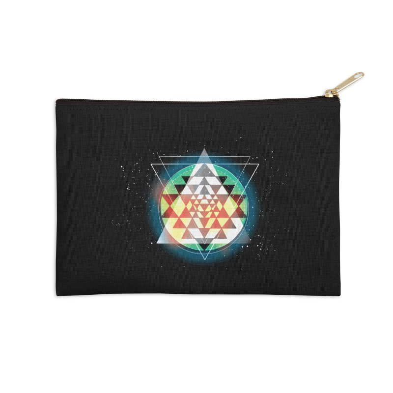 Sri Yantra Accessories Zip Pouch by