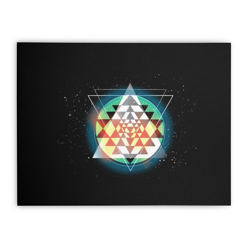 Sri Yantra Home Stretched Canvas by