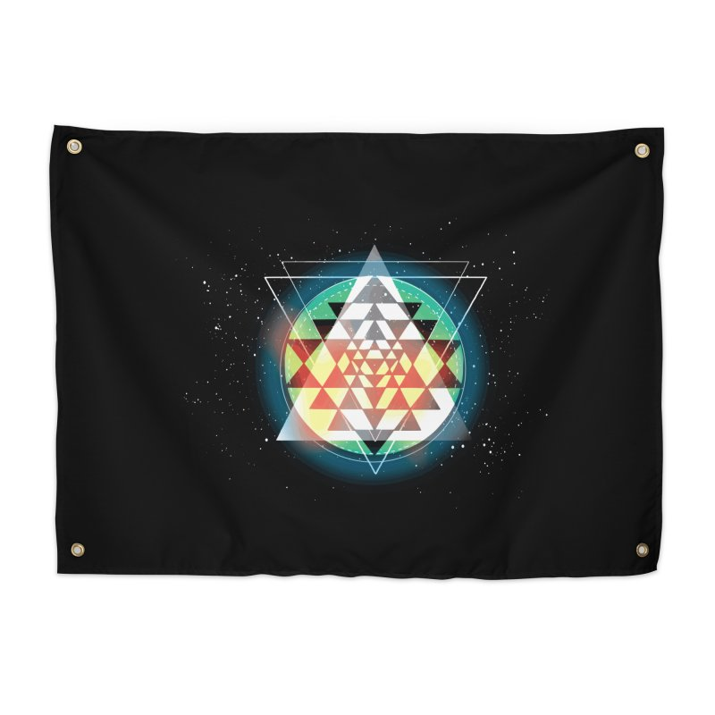 Sri Yantra Home Tapestry by