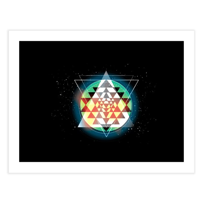 Sri Yantra Home Fine Art Print by