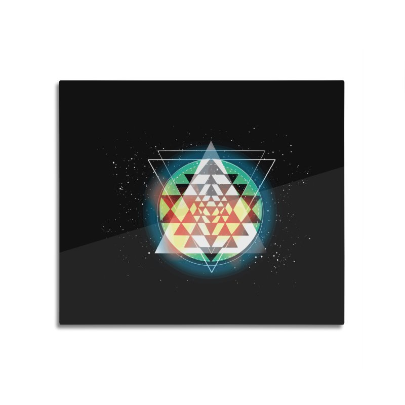Sri Yantra Home Mounted Aluminum Print by